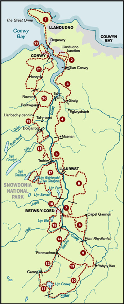 Map of conwy Valley way