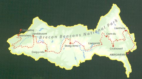 Beacons Way Map