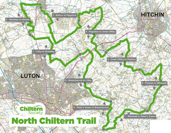North Chiltern Trail Map